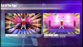 Just Dance Now Eye Of The Tiger Comparison