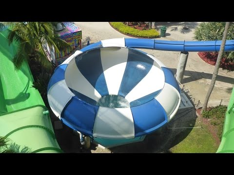 """Rapids Water Park - """"Baby Blue"""" Space Bowl Slide (Trichterrutsche) Onride POV"""