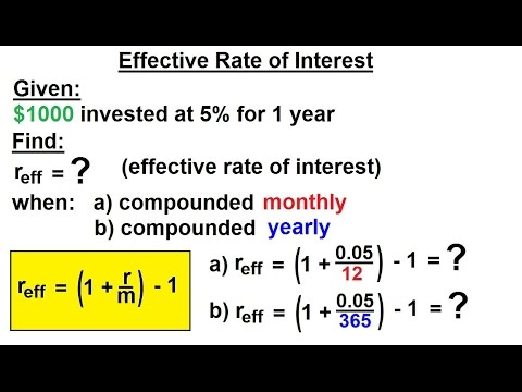 Business Math - Finance Math (8 of 30) Effective Rate of Interest