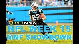 Week 15 NFL Monday Night Football DraftKings Showdown Picks Saints-Panthers - Awesemo.com