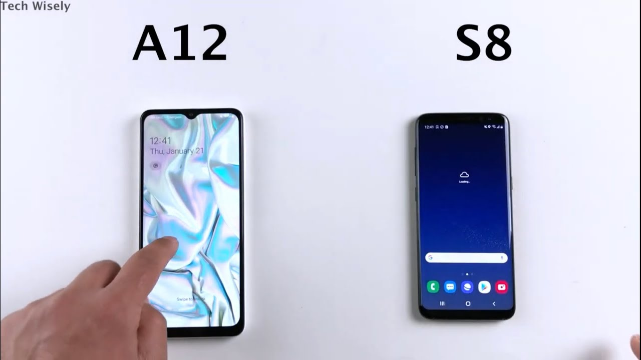 Samsung A12 Vs S8 Speed Test Youtube