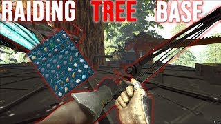RAIDING A WEIRD TREE PLATFORM BASE - ARK SMALL TRIBES #10 thumbnail