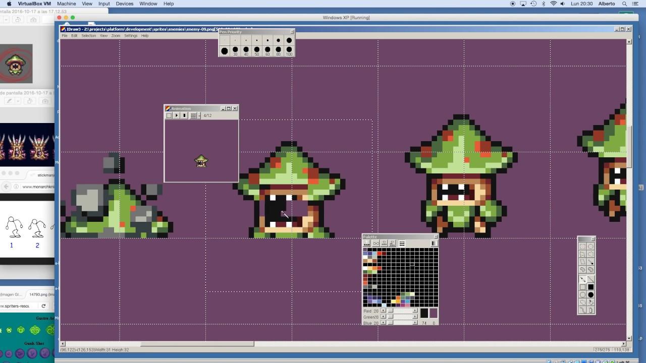 Pixel Character Design Tutorial : How to pixel art character animation design platformer