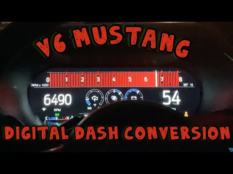 V6 Mustang Digital Dash Conversion