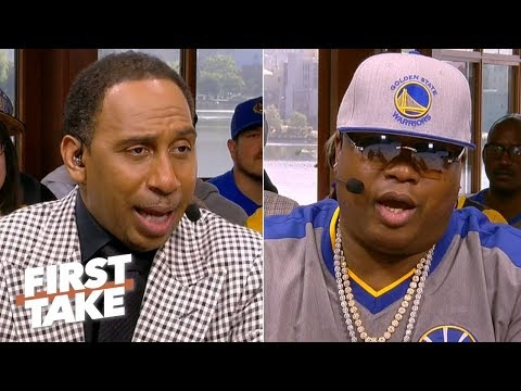 Game 4 predictions: Stephen A., E-40 pick the Warriors, Max takes the Raptors | First Take