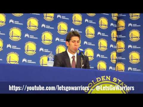 Golden State Warriors GM Bob Myers on NBA Draft pick Jordan Bell (Draymond tutelage?), Chris Boucher