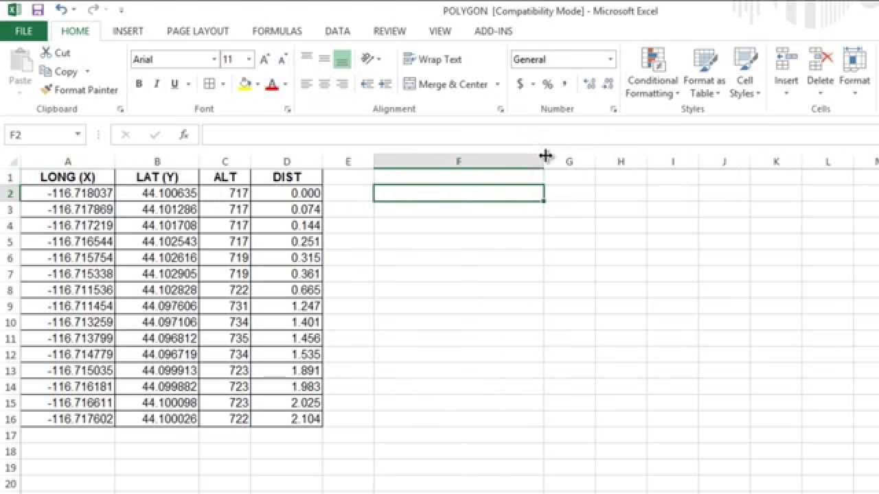 How to import x y coordinates from excel to autocad youtube for Table x and y