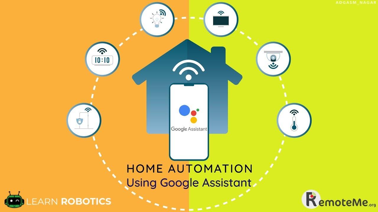Home Automation Using Google Assistant Esp8266 Learn Robotics