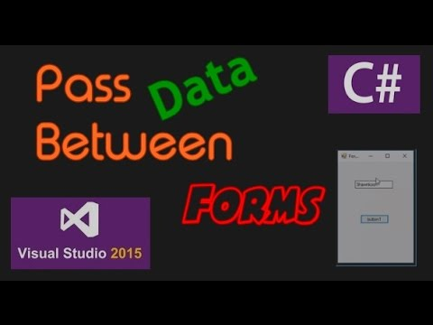 C# tutorial - Pass Data between Forms _ Visual Studio 2015