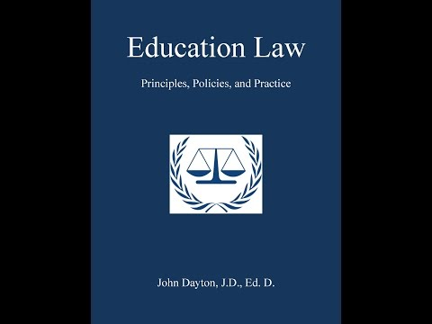 Education Law Chapter 1: Law & Governance