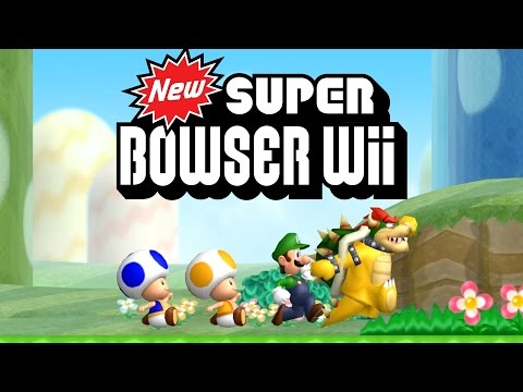 New Super Bowser Wii - All 9 Worlds Full...