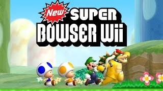 New Super Bowser Wii - All 9 Worlds Full Game (All Star Coins)