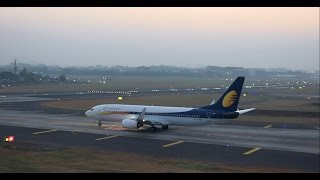 rare 3 quick aircraft takeoffs in 3mins flat from busy mumbai airport