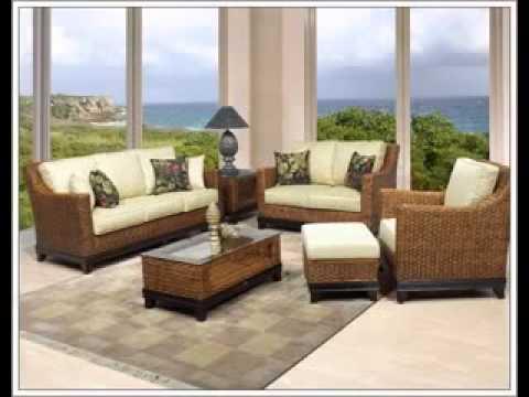 Rattan living room furniture ideas YouTube