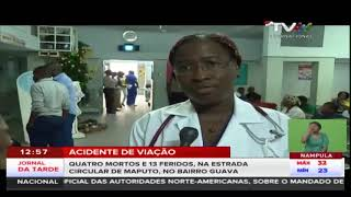 Acidente de viação: Quatro mortos e 13 feridos, na Estrada Circular de Maputo, no bairro Guava