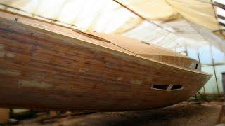 Яхта GALAXY Своими руками. Оклейка. Шпаклевка ч.4