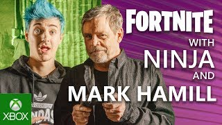 Ninja Teaches Mark Hamill The Ways of Fortnite