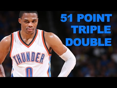 Westbrook Posts First 50+ Point Triple Double Since 1975