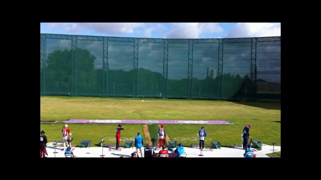 Shooting Olympic Target