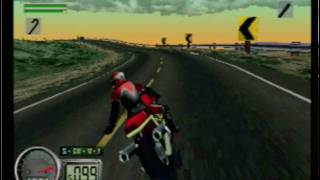 Road Rash 3D (Playstation) Gameplay (Level 2)