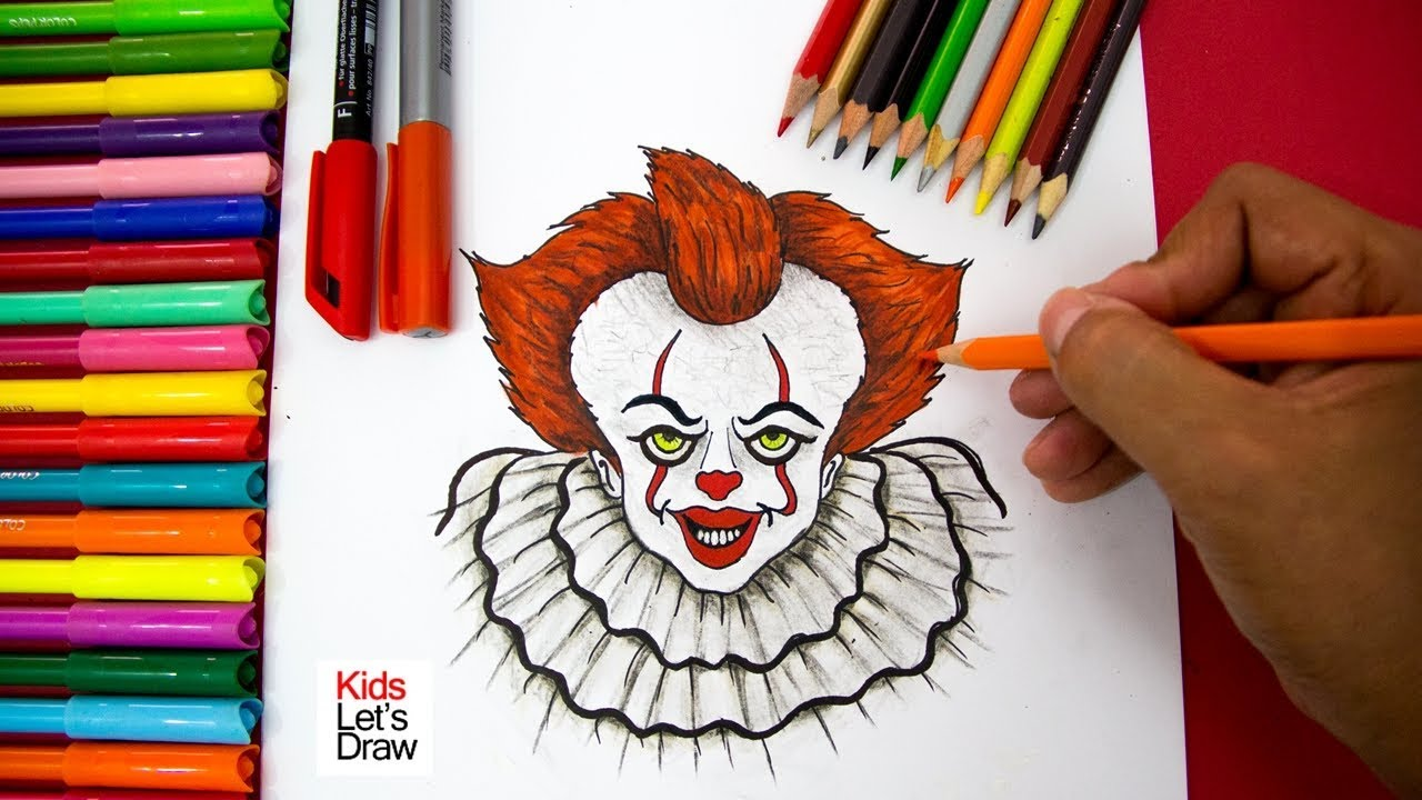 Cómo Dibujar Al Payaso Pennywise Eso Fácil How To Draw Pennywise