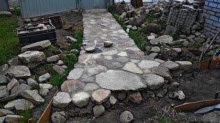 дорожка из камня(садовая дорожка из обычного камня просто и красиво., 2016-07-09T17:49:54.000Z)