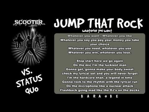 Scooter vs  Status Quo - Jump That Rock(Karaoke)
