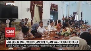 Setelah Rapat Perdana, Presiden Jokowi Bincang Dengan Wartawan Istana