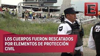 Derrumbe en la obra de una plaza comercial en Monterrey deja siete muertos