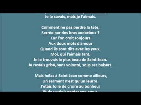 Mon amant de Saint-Jean - Chloé.L - 01-12-2013