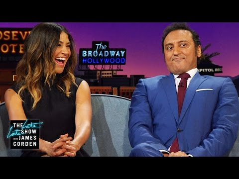 Jessica Szohr & Aasif Mandvi Talk Childhood Crushes