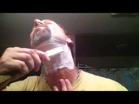 Straight Razor Shave 28 - Ralf Aust Spanish Point - Savile Row 3324 - HTGAM Gondolier