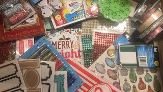 Dollar Tree haul - Items to use for Christmas in July embellishments /early Christmas papercrafting
