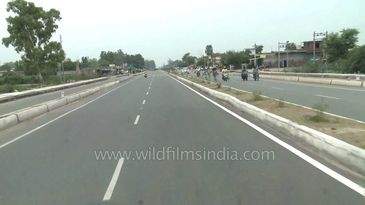 Highway To Pakistan From India On NH1
