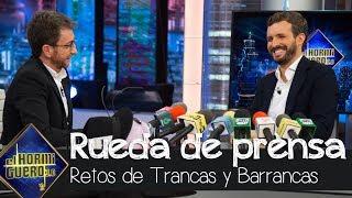 Pablo Casado 'se convierte' en Pablo Motos en la sección de Trancas y Barrancas - El Hormiguero 3.0