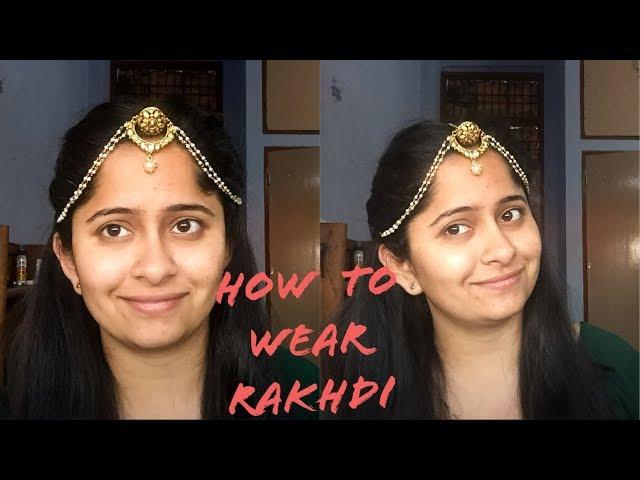 How to Wear Rakhdi/Borla/Maang Tikka with Hairstyle   How To Wear Head Jewellery   Anchal Beniwal
