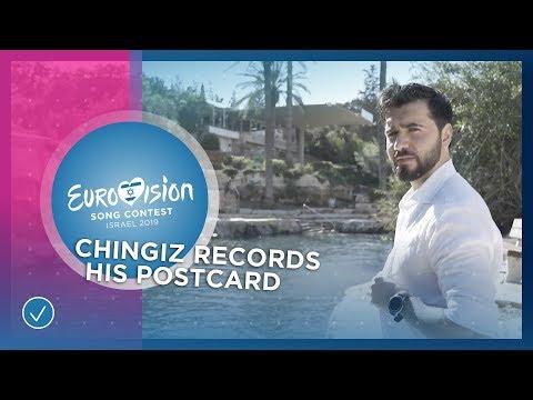 Chingiz from Azerbaijan 🇦🇿 records his postcard in Israel