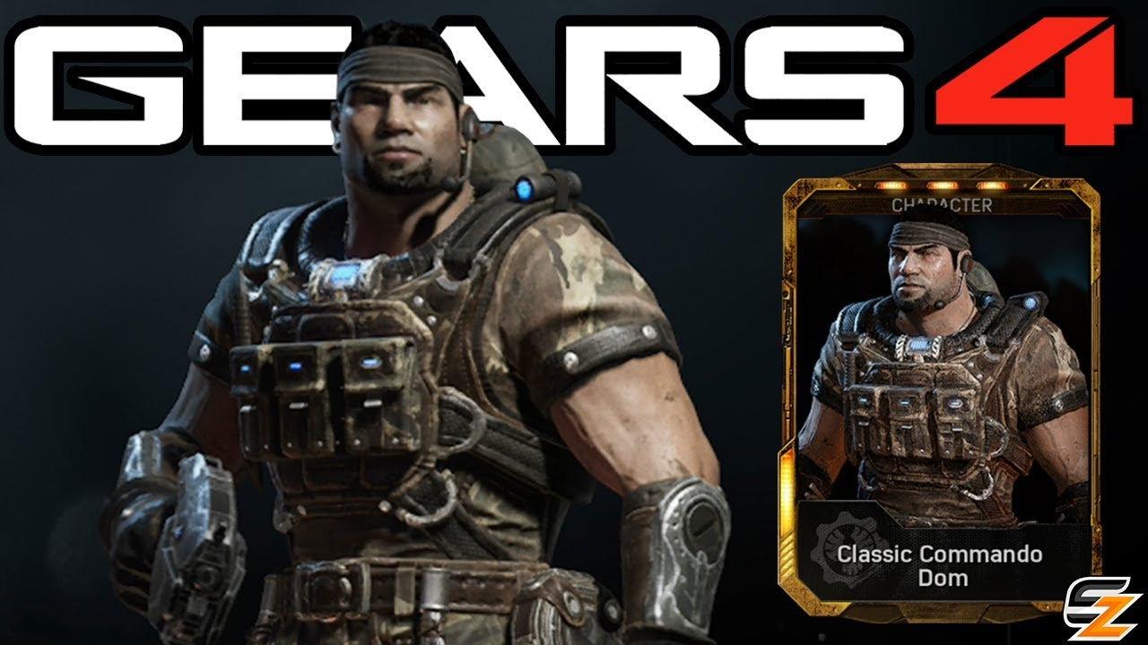 Gears Of War 4 Classic Commando Dom Character Multiplayer