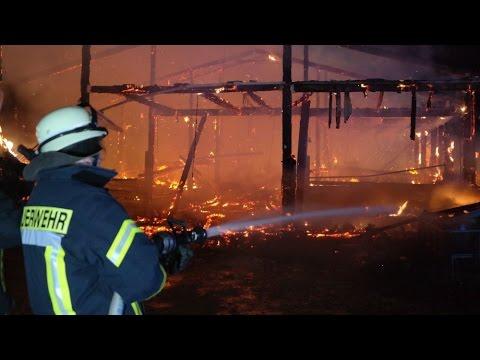 Scheune brannte bei Schauenburg - Brandstiftung? 11.03.2017