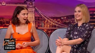 Lily James & Millie Bobby Brown Are Very Superstitious - #LateLateLondon