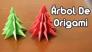Christmas Tree Origami / Árbol Navideño De Origami