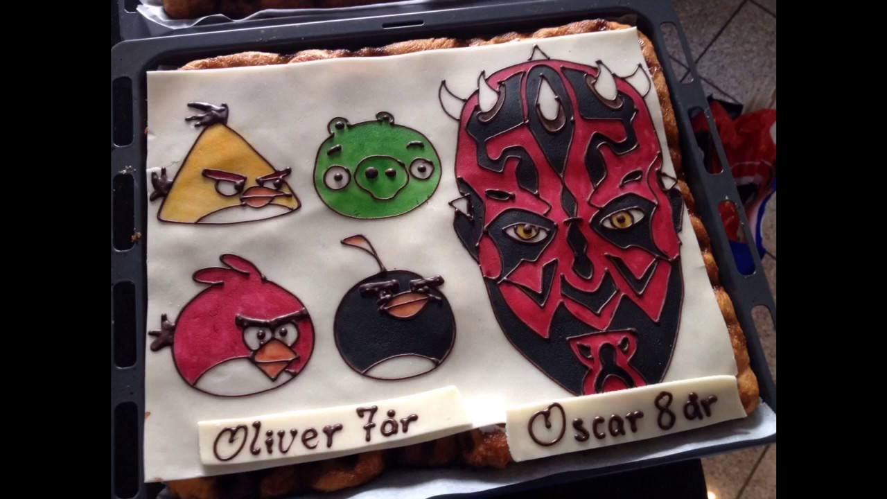 How To Make Cake Decoration With Star Wars Darth Maul Youtube