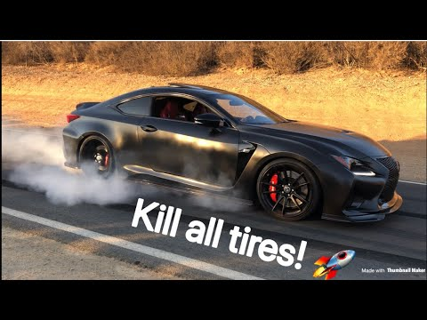 How to do a BURNOUT in a Lexus RCF or GSF!
