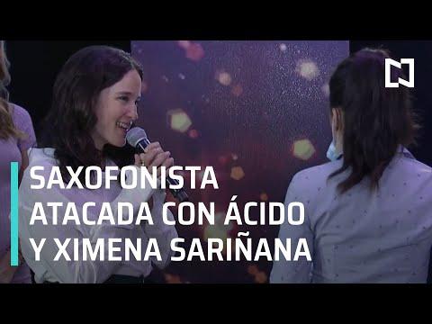 Saxofonista atacada con ácido, toca con Ximena Sariñana - Al Aire