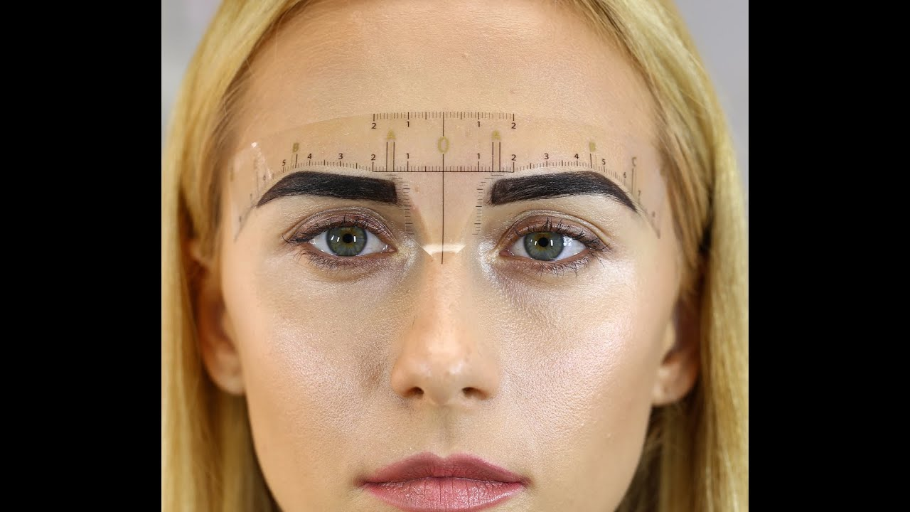 How To Use Darias Chuprys Eyebrow Measurement Ruler Youtube