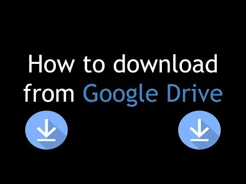 How to quickly download files from Google Drive