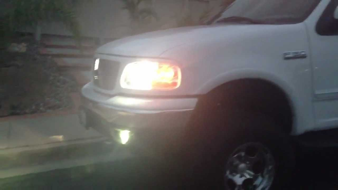 New Ford Truck >> New HID fog lights for F150 Lariat SuperCrew 4x4. Also see my Mustang Bullitt videos. - YouTube