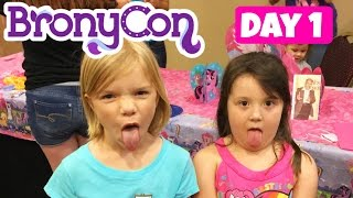 Day 1 of BRONYCON 2015 - Meeting our Friends Mommy and Gracie Show, Babyteeth4, RobinCabana........