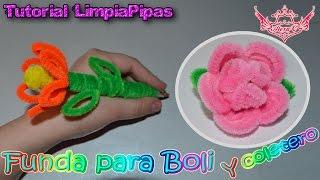 Repeat youtube video ♥ Tutorial: Funda para Boli y Coletero de Limpiapipas MUY FÁCIL ♥
