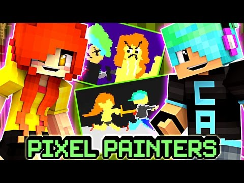 Pixel Painters Murder Dooty Pie!?!!!! - DOLLASTIC PLAYS with GamerChad - Minecraft Mini Game